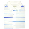 Mens Short Sleeve 4-Color Bold Stripe PIQUE - SELF COLLAR - WHITE/ATLANTIC/OCEAN/SKY