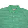 Donald Ross Short sleeve 3-color FRAME stripe JERSEY KNIT Collar - IVY / NAVY / CREAM