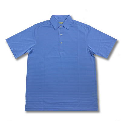 Donald Ross Short Sleeves Micro Stripe Jersey Polo - PACIFIC