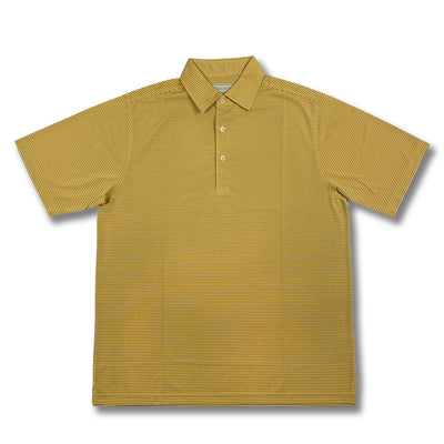 Donald Ross Short Sleeves Micro Stripe Jersey Polo - HONEY