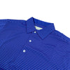 "Donald Ross MENS Short Sleeve 2 color ""Pencil Stripe"" JERSEY POLO - ATLANTIC BLUE / PINK"