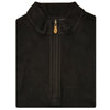 Mens Sleeveless 1/2 Zip Mock-neck Fleece - BLACK