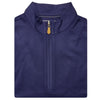 Mens Sleeveless 1/2 Zip Mock-neck Fleece - NAVY