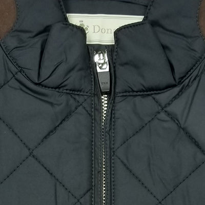 Mens Lightweight Quilted Sleeveless Jacket - BLACK