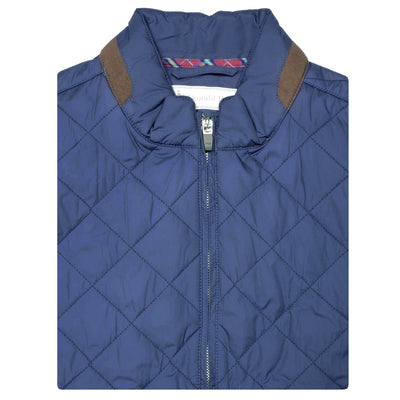 Mens Lightweight Quilted Jacket - LONG SLEEVE - STEEL BLUE