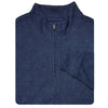 [NEW] Mens Tonal Pattern Lightweight 1/2 Zip Performance Fleece Pullover - NAVY