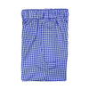 Donald Ross Mens 2 Color Gingham Stripe Boxer Short - SAPPHIRE/WHITE