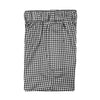 2 Color Gingham Stripe Boxer Short - BLACK/WHITE
