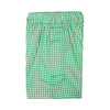 2 Color Gingham Stripe Boxer Short - JADE/WHITE