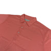 Donald Ross Mens Short Sleeves Print Jersey Mini Gingham Check Pattern Polo - CORAL