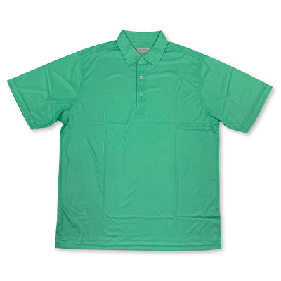 Donald Ross Mens Short Sleeve Print JERSEY - KELLY GREEN / WHITE