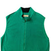 Donald Ross Mens Full Zip Cross-Cut Fleece - VEST - CLOVER - NO POCKETS
