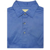 Mens Short Sleeve Herringbone print on JERSEY SELF COLLAR - BLUE IRIS/SKY