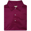 Mens Short Sleeve Herringbone print on JERSEY SELF COLLAR - CARDINAL/NAVY