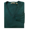 Donald Ross Mens V-Neck Sweater - Pine