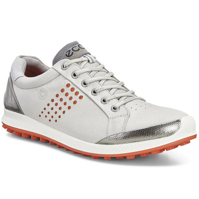 ECCO Men's Biom Hybrid 2 Golf Shoes - Concrete/Fire