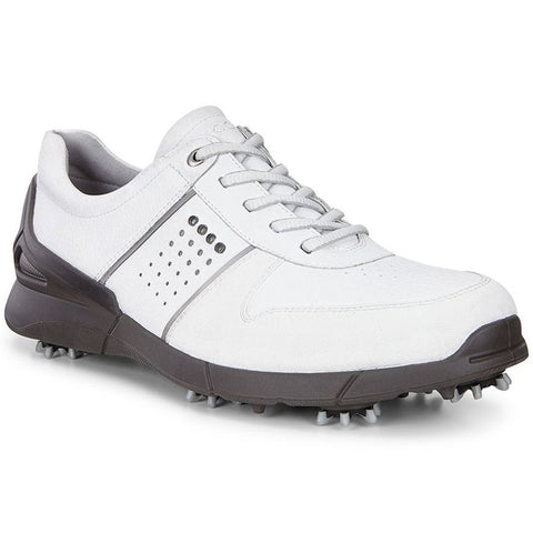 ECCO Men's Base One Golf Shoes - White Mimosa