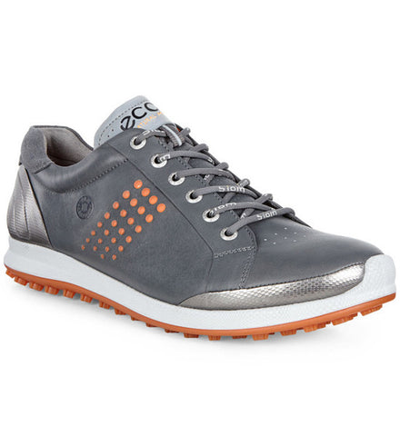 ECCO Men's Biom Hybrid 2 Golf Shoes - Dark Shadow/Orange