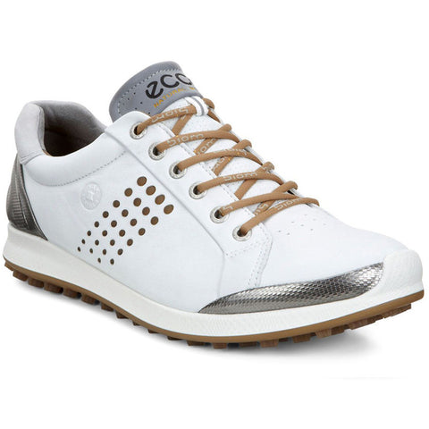 ECCO Men's Biom Hybrid 2 Golf Shoes - White/Mineral