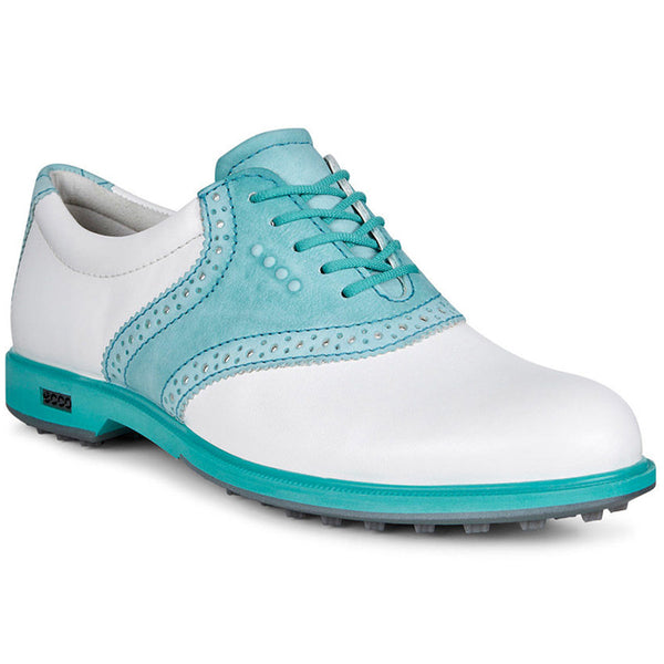 ECCO Women's Classic Hybrid Golf Shoes - White / Capri Breeze