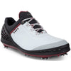 ECCO Men's Cage Golf Shoes - White/Black