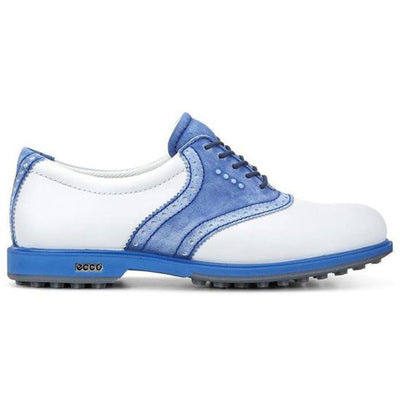 ECCO Women's Classic Hybrid Golf Shoes - White / Cobalt - IN STOCK
