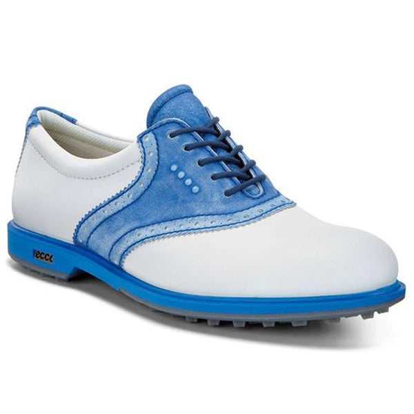 ECCO Women's Classic Hybrid Golf Shoes - White / Cobalt