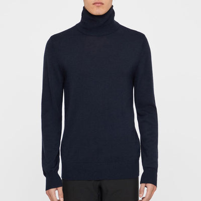 J. LINDEBERG MEN'S - ED CASHMERE COOLMAX SWEATER - NAVY