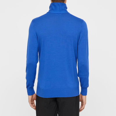 J. LINDEBERG MEN'S - ED CASHMERE COOLMAX SWEATER - DAZ BLUE