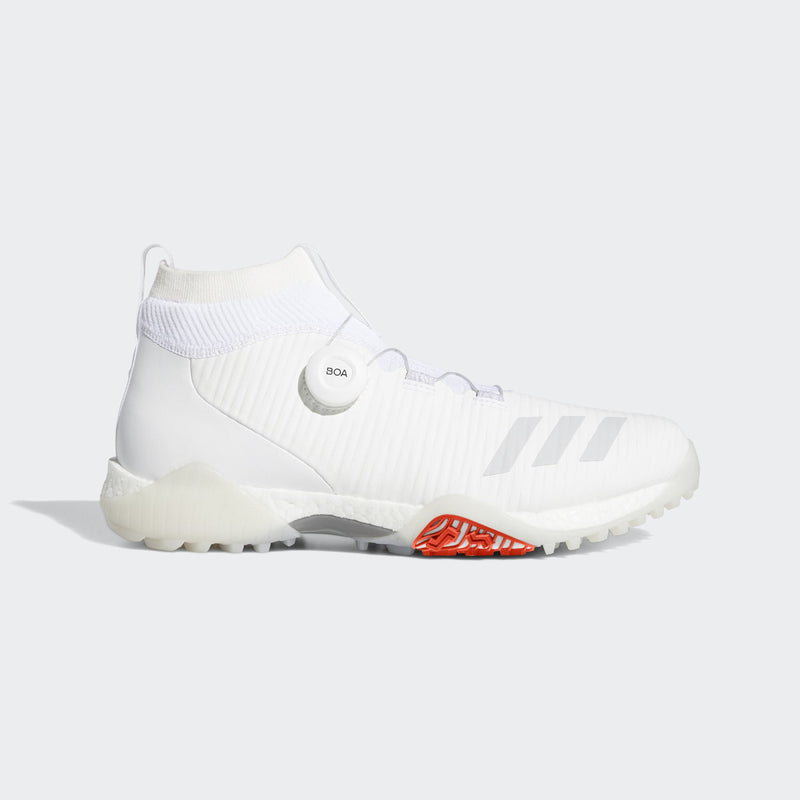 ADIDAS MEN'S CODECHAOS BOA GOLF SHOES - CLOUD WHITE / GREY ONE / SOLAR RED  - (PRE ORDER)