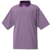 FootJoy Mens ProDry Lisle Feeder Stripe Polos - Previous Season Style - PURPLE PLUM  GREY