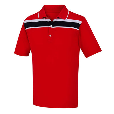 Lisle Chest Stripe Knit Collar JUNIOR - Red Previous Season
