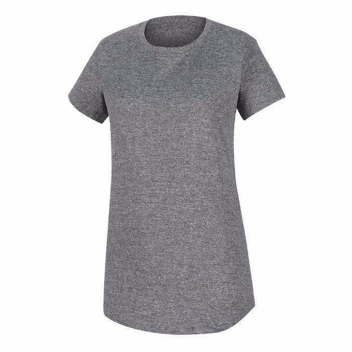 FootJoy Micro-Rib T-Shirt Women - HEATHER CHARCOAL