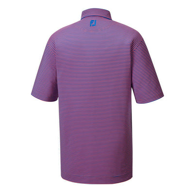 Lisle Feeder Stripe Self Collar - Pink/Blue