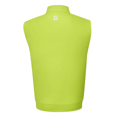 Footjoy Mens Half-Zip Jersey Vest-Previous Season Style - Green Apple