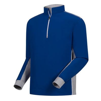FootJoy Men's Wind Shell Pullover - ROYAL/HEATHER GREY