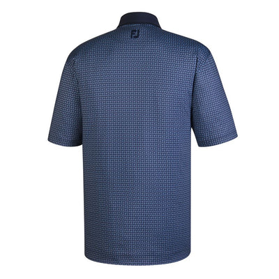 Footjoy Lisle Paisley Print Self Collar - Navy