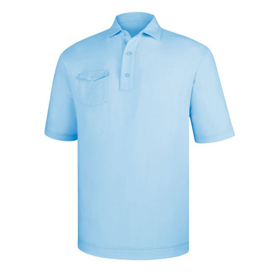 Footjoy Spun Poly Chest Pocket Self Collar - Light Blue