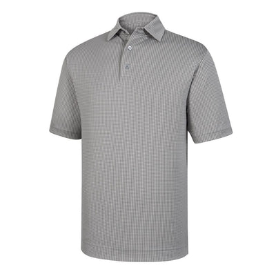 Footjoy Shirt Diamond Jacquard Self Collar - GRANITE WHITE