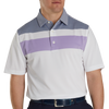 FJ Men's Double Block Birdseye Pique Self Collar - White / Soft Purple / Deep Blue