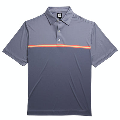 FJ Men's Jacquard Top Color Block Self Collar - Slate