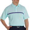 FJ Men's Jacquard Top Color Block Self Collar - Mint