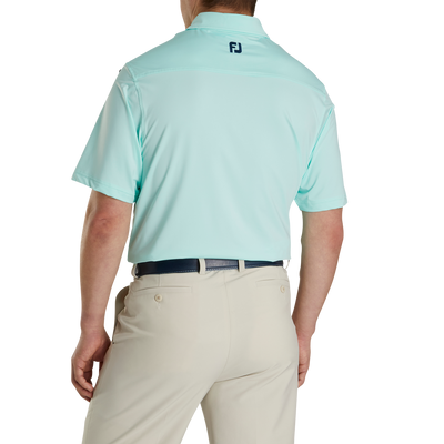FJ Men's Lisle Solid Self Collar - Mint / Deep Blue