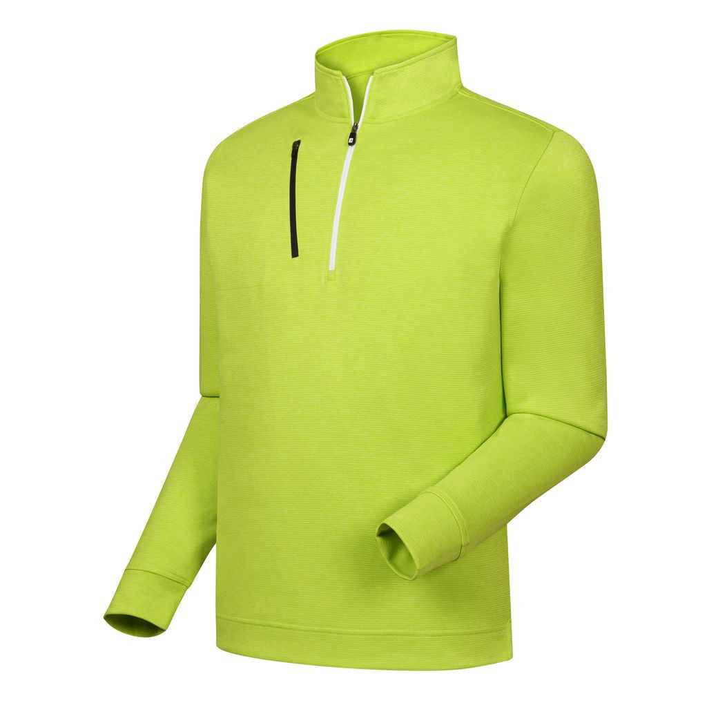 FootJoy Heather Pinstripe Half-Zip Pullover - HEATHER LIME