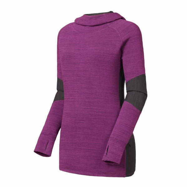 FootJoy Cowl Neck Pullover Hoodie Women - GRAPE / HEATHER CHARCOAL Previous Season Style