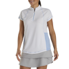 FJ Womens Jersey Mini Stripe Zip 1/4 Zip - WHITE