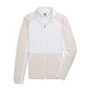 FJ Womens Full-Zip Mini Stripe Mid-Layer Jacket - WHITE