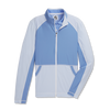 FJ Womens Full-Zip Mini Stripe Mid-Layer Jacket - BLUE JAY
