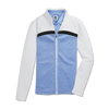 FJ Womens Full-Zip Double Jersey Blocked Mid-Layer Jacket - WHITE