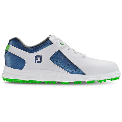 Footjoy Junior Pro/SL  Golf Shoes - 45039 - WHITE / BLUE